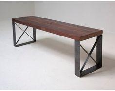 estanteria madera hierro. mesa ratona banqueta silla consola