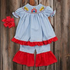 Back to school smocked dress! Perfect for the first day of school!
