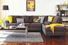 Slate 4 Seater Fabric Corner Lounge Suite. Harvey Norman