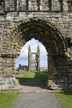 FIFE, SCOTLAND: St. Andrews cathedral ruins, Fife, Scotland. 12th c.