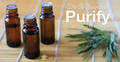 This DIY Purification Essential Oils Blend helps clean the air of toxins, odors, bacteria, fungus, and more -- and is a fabulous wound cleaner as well.