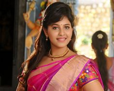 Latest Anjali Saree Navel Spicy Hd Wallpapers