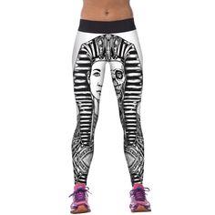 21b7c38da86 Leimolis print pharaoh Gothic high waist punk rock adventure time plus size  workout sexy fitness leggings women pants