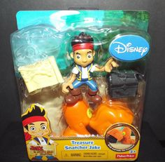 Disney Jake and the Neverland Pirates Treasure Snatcher Jake Figure NEW! #Disney