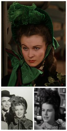 """This famous bonnet from """"Gone With the Wind"""" was first worn by Vivien Leigh. The hat went on to be used again in """"Go West Young Lady"""" and """"In Old California.""""  #GoneWiththeWind #VivienLeigh #GoWestYoungLady #InOldCalifornia #WalterPlunket"""