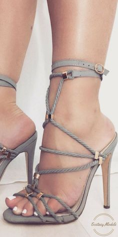Grey Rope & Gold Heels from @touchdolls