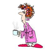 gif anime mamie qui boit son cafe