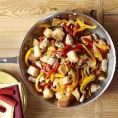 Skillet Chicken with Olives and Peppers