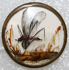 Button, French ca. 1775, glass.