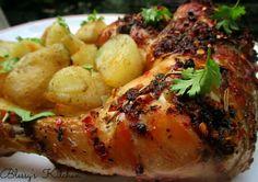 Herb butter chicken roast  http://www.blessyskitchen.com/2015/09/herb-butter-chicken-roast.html?m=1 #blessyskitchen #yummy