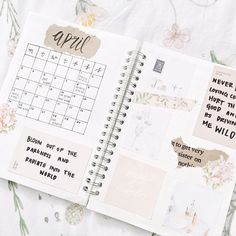 """2,245 Likes, 27 Comments - @lycheestudy on Instagram: """"My month spread for april✨ (I put it on my duvet for a """"springy"""" feel) I sort of want a new bullet…"""""""