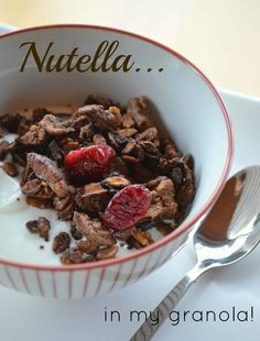 Nutella makes a fantastic addition to granola - adding the flavor of chocolate and hazelnuts for a deliciously decadent breakfast or snack!