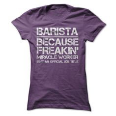 Barista Job Title T-Shirts, Hoodies. Get It Now ==► https://www.sunfrog.com/LifeStyle/Barista-Job-Title-Ladies.html?41382