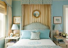 kelly proxmire blue canopy bed