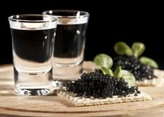 """Russian Vodka is known and loved all over the world, but do you know what do the Russians eat for """"na zakusku"""" (side dish)? List of 12 Russian appetizers that goes great with vodka Beluga Vodka, Best Caviar, Distilling Alcohol, Russian Vodka, Strong Drinks, Perfect Food, Healthy Choices, Gourmet Recipes"""