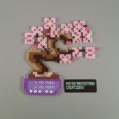 Cherry blossom bonsai tree perler beads by  pkmnmastertash