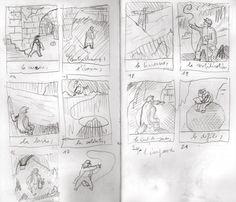 Storyboard for 'Ballad' by Blexbolex