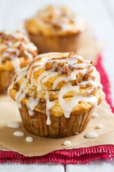 Apple Cinnamon Roll Muffins.