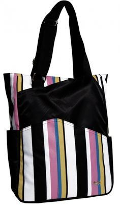 Love Tennis Tote Bags ? Here's our  Cabana Stripe Glove It Ladies Tennis Tote Bag! Find plenty of Tennis Accessories here at #lorisgolfshoppe