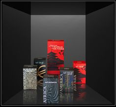 cajas continentes  packaging with Soft Touch, Soft Touch metallized, Soft Touch Black and Anti-Scratch by Derprosa