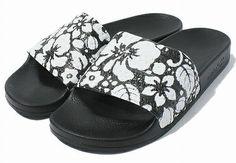 ADIDAS ADILETTE Hawaii Black-White Sports Sandals flip flops slippers new Sz 11
