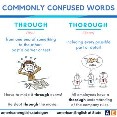 Commonly confused words: Through vs Thorough
