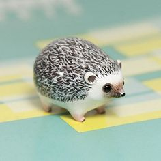 Hedgehog polymer clay sculpture
