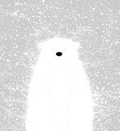 "Its A Polar Bear Blinking In A Blizzard  by Skylar Hogan  ART PRINT / MINI (8"" X 9"")  $15.95"