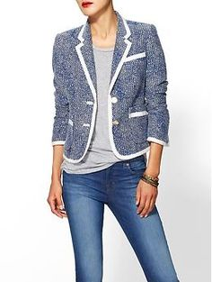 Juicy Couture Rope Yarn Jacquard Blazer | Piperlime