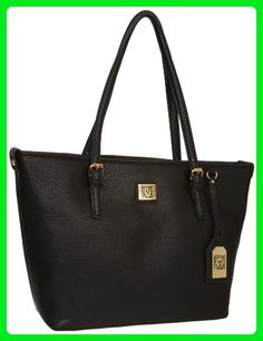 Anne Klein Perfect Tote Medium Tote, Black, One Size - Top handle bags (*Amazon Partner-Link)