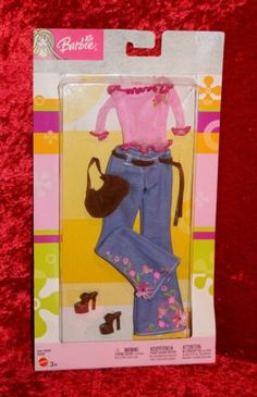 Barbie-Doll-2003-Fashion-Avenue-Style-Hip-Pink-Top-Flower-Jean-New-B8268-NRFB
