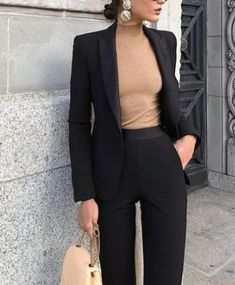 20 Chic Navy For Women Work Outfits - Casual Work Outfits Stylish Work Outfits, Spring Work Outfits, Casual Work Outfits, Mode Outfits, Work Casual, Work Attire, Office Outfits, Fashionable Outfits, Casual Office
