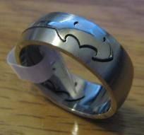 Sz 11 Laser Cut BATMAN Wedding Band - FREE SHIPPING ! **Britt S saw this and thought of you!!