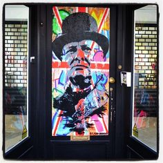 The front door to an art gallery on Walton Street. A colourful start to the day.