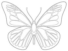 Butterfly coloring page. #Printables