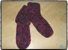 mis creaciones...: Calcetines de lana a dos agujas