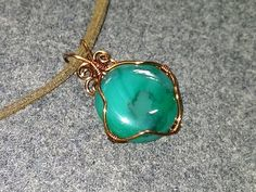 Wire wrap pendant with stone no holes - How to make wire jewelery 149 - YouTube