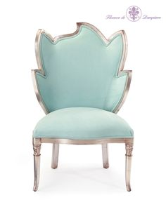 43H X 28W X 21D Right Rousseau Chair Available only in V26 Misto Finish Nature is an important inspiration for the decorative arts. The Rousseau chair, with their back in the form of a large leaf, is a hymn to the beauty of nature Their frames, enhanced with silver leaf, add a special elegance to any room.