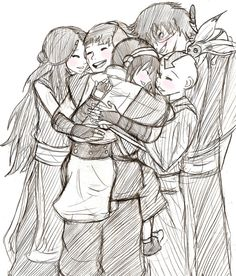 I like how Toph is hugging Sokka. It's completely out of character, but I feel my Tokka feels coming out anyways. :)