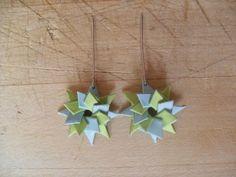 tuto boucle d oreille en origami
