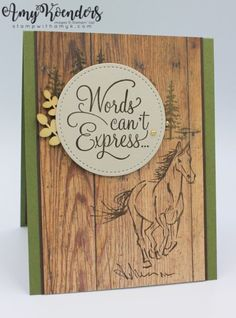 Stamp With Amy K – Amy Koenders, Independent Stampin' Up! Demonstrator in Alpharetta, Georgia (Atlanta)…Let's make some cards! Pet Sympathy Cards, Horse Cards, Animal Cards, Masculine Cards, Stampin Up Cards, Men's Cards, Stamping Up, Greeting Cards Handmade, Homemade Cards