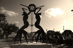 "McAllen, Texas. ""The Three Graces"" sculpture in the Arts District"
