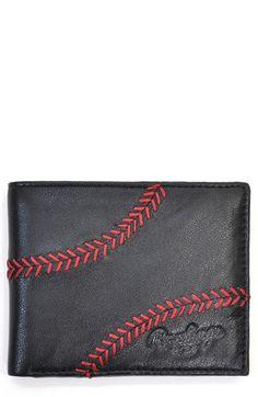 Rawlings® 'Baseball Stitch' Leather Wallet