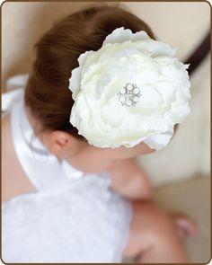 White Flower Hair Clip   Peony White  Wedding Hair by KuggaKIDS, $7.00