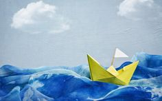 Artwork blue skies boats paintings paper boat (1920x1200, blue, skies, boats, paintings, paper, boat)  via www.allwallpaper.in
