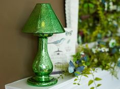 Mercury Glass Lamp adds that special glow to your spring decor.  H201625 http://qvc.co/-Shop-ValerieParrHill