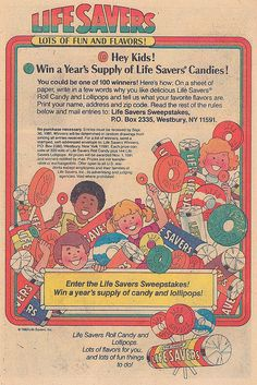 Snack Foods Of The 1980S | Life Savers candy ad, 1980 | Flickr - Photo Sharing!