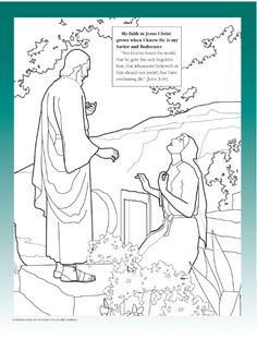 My faith in Jesus Christ grows when I know He is my Savior and Redeemer (LDS The Friend Magazine Coloring Page)