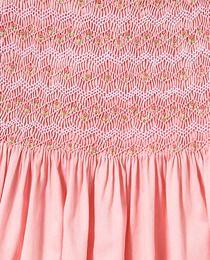 Vestido de niña Tizzas en rosa con smock