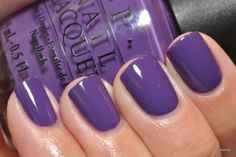 Back to my re-swatch-festival! OPI Funky Dunkey - I love this purple, but its name is really annoying. Why not just Donkey, huh? HUH? Anyw...
